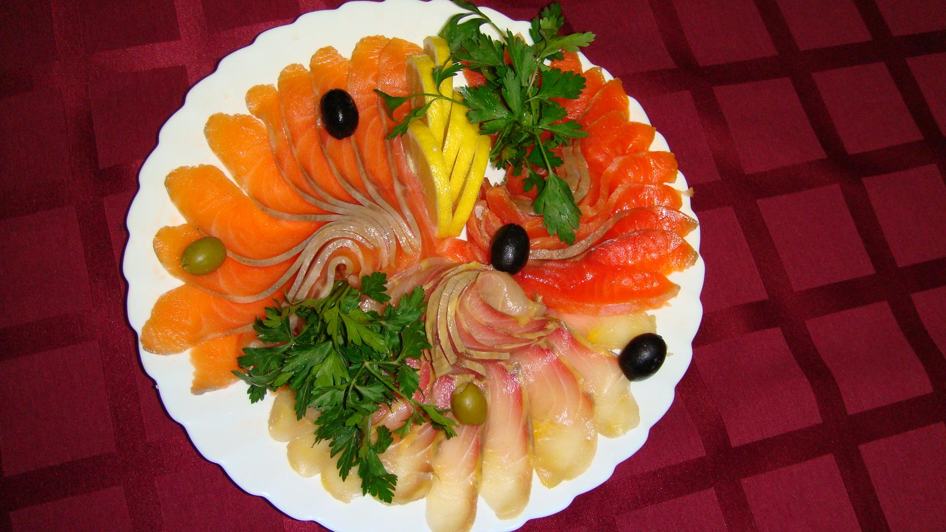 Украшение блюд с рыбой в фото